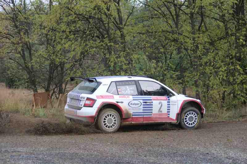 Laustz-Rallye:  ŠKODA Doppelsieg: Kreim vor Kahle